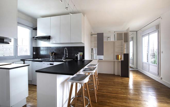 transformation studio en appartement. Black Bedroom Furniture Sets. Home Design Ideas