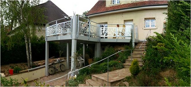 Extension terrasse sur pilotis - Extension sur terrasse ...